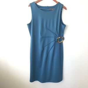 Bianca Nygard Teal-Blue Zip Cinch Dress Size L
